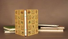 Boys Children's Play Teal Brown Coptic Bound Notebook Sketchbook Journal Scrapbook. $24.00, via Etsy.
