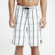 """Hurley Puerto Rico Men's 22"""" Board Shorts Size 28 (White) - Clearance Sale"""