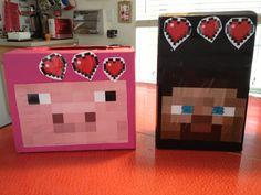 Minecraft valentines boxes .