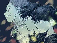 Mob, Ritsu, Teruki, and Sho