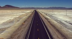 Lone Route 50 in northern Nevada. Aerial photo from Aerial America.