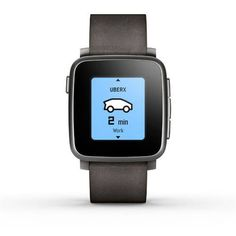 Pebble Time Steel Smartwatch, Black for Sale