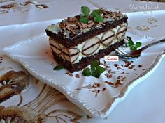 Kakaové rezy s kokosovo-mascarpone krémom (fotorecept) - recept | Varecha.sk Desert Recipes, Nutella, Baked Goods, Sweet Recipes, Tiramisu, Food And Drink, Cooking Recipes, Meals, Ethnic Recipes
