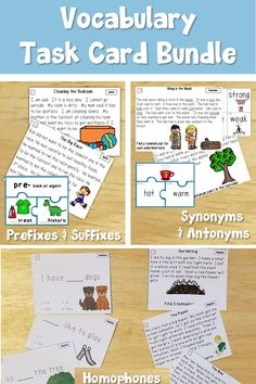 5469fd7ec Vocabulary task cards for prefixes and suffixes