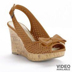 Apt. 9 Slingback Wedge Sandals - Women #kohls