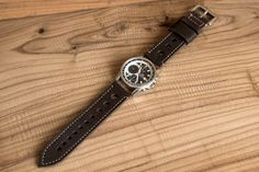 Sale Leather Watch Strap 24mm Vintage Style / by VVdesignerShop