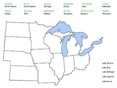 1000 images about 4 ss midwest region on pinterest united states map 5th grade