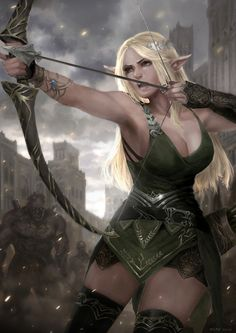 Elf+Archer+by+rickyryan.deviantart.com+on+@DeviantArt