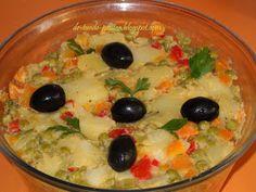Retete Rina's 90, Retete de peste tot adunate: Salata de boeuf ( falsa ) Pudding, Desserts, Food, Diet, Salads, Tailgate Desserts, Deserts, Puddings, Meals