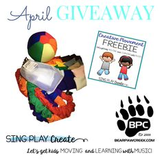 Movement Prop Giveaway PLUS Sing, Play, Create Resource Preschool Music, Music Activities, Teaching Music, Dance Movement, Music And Movement, Sound Of Music, Good Music, Lets Play Music, General Music Classroom