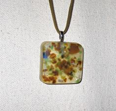 Upcycled / Recycled / Glass / Resin / Brown /  by GroovyGarbage, $17.00