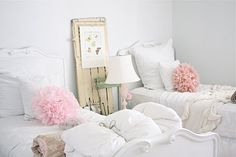 White and pink girl room