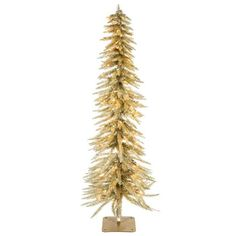 4 champagne accent tree with lights - Skinny Christmas Trees Hobby Lobby