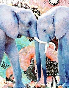 Elephant love via periwinkleliving