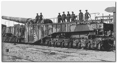British railway gun WW I.