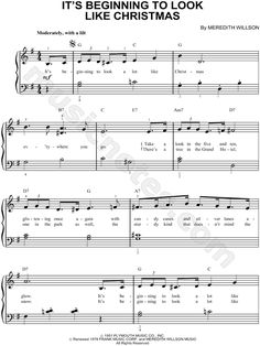 Perry Como - It's Beginning To Look Like Christmas Sheet Music (Digital Download)