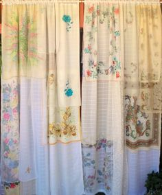 """""""Whispering Wind"""" Gypsy curtains from my Esty shop and a quote I LOVE. """"Listen to the whispering of the wind and the roar of . Gypsy Curtains, Curtains With Blinds, Roman Blinds, Vintage Curtains, White Sheer Curtains, Colorful Curtains, Floral Curtains, Global Design, Curtain Fabric"""
