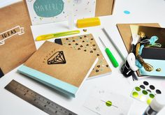 Make your own embroidered notebooks kit