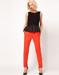 Enlarge ASOS Wool Touch Trousers With Pleat Front