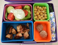 Bento Lunch (Basil Greek yogurt dip)