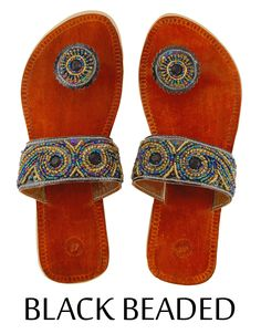 Black Beaded - Paduka Sandals $24.99