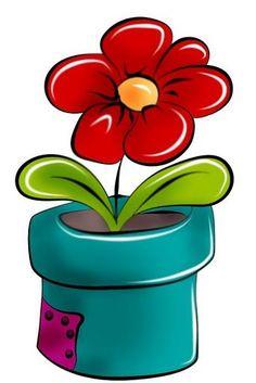 Cute Clipart, Flower Clipart, Tole Painting, Fabric Painting, Bulletins, Clip Art, Rock Art, Painted Rocks, Flower Art