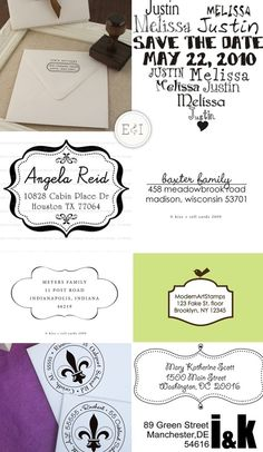 Address stamps are fabulous for your invites :) Dream Wedding, Wedding Day, Address Stamp, Wedding Paper, Paper Design, Wedding Planning, Stamps, Card Making, Wedding Inspiration