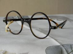 b8f31929c8 True vintage rare antique unusual hand made round eyeglasses spectacles  frames silver hinges Made in England.