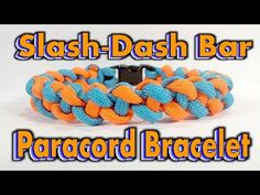 Paracord How To Make A Two Color Slash-Dash Bar With Buckles - YouTube
