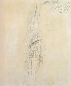 nearlya:  Cy Twombly. Portrait of George D'Almeida 1967. / Industrial paint and lead pencil on canvas, 150 x 120cm.