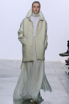 GBV... Amazing look of sport coat with evening gown, and in white!!! Simple perfection in breaking all the rules!!!