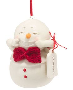 Department 56 Christmas Ornament, Snowpinions Cheeze - Christmas Ornaments - Holiday Lane - Macy's