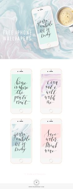 Download+your+free+wallpapers,+choose+from+four+calligraphy+quotes+with+marble+textures.+-+We+Are+Kemy