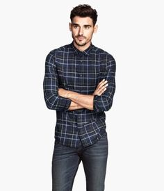 H&M Plaid Cotton Shirt $29.95 Rich,Large - Summer