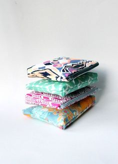 Cosmetic bags in colorful prints