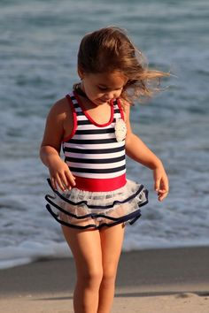 Striped Sailor One Piece with Hat by Mia Belle Baby on @HauteLook