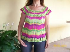 Zigzag top in different colours