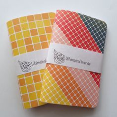 Traveler's Notebook Midori Inserts Rainbow Yellow Field Notes Size by WhimsicalWende on Etsy