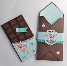 Insta Enveloppes pour cartes tablette de chocolat par Marie Meyer Stampin up - http://ateliers-scrapbooking.fr/