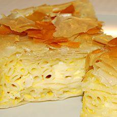 Μακαρονόπιτα - Greek Makaronopitta (pie with pasta and fyllo)