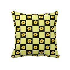 MillionBells Flowers Checkerboard pillow