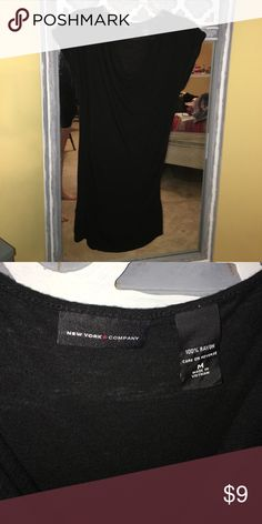 Black mini dress or wear as top w leggings Black mini dress that can also be worn as a top with leggings. New York & Company Dresses Mini