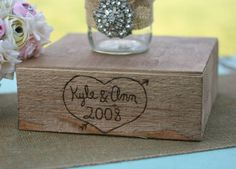Large 20x20 Engraved Barn Wood Custom Engraved with Your Names Shabby Cake Stand Vintage Inspired Rustic Chic Wedding Decoration