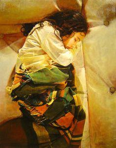 """Saatchi Online Artist Marco Ortolan; Painting, """"Dormitando"""" #art"""