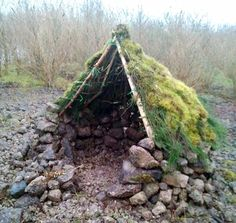 I don't know if Scandinavian peoples in the ancient days built these, but they do remind of them. Does anyone know if this is actually a way some people used to build shelters from any place? Perhaps someone was just being very creative.