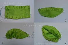 Мастер-классы » Листья из лент с волнистым краем