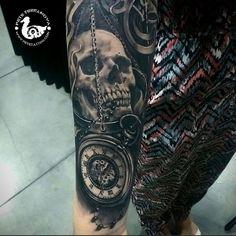 Black and Gray Skull Tattoos by Pete Terranova