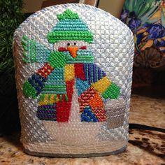 steph's stitching: Sky stitches, needlepoint snowman