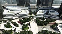 10 Design - Chengdu Mixed Use Development Green Architecture, Concept Architecture, Futuristic Architecture, Sustainable Architecture, Contemporary Architecture, Landscape Architecture, Landscape Design, Architecture Design, Mix Use Building