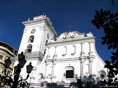 """Caracas Cathedral. Its construction began in 1666 & was completed in 1674. The facade dates from 1771. In 1932 and during the 60s, restoration & modifications were made throughout the building. The cathedral has a romanesque plan consisting of 5 naves.  The sacral art in the cathedral contains, among others, """"The Resurrection"""", by Rubens, """"The Presentation of the Virgin"""" by Murillo, and """"The Last Supper"""", an unfinished work by the Venezuelan painter Arturo Michelena."""